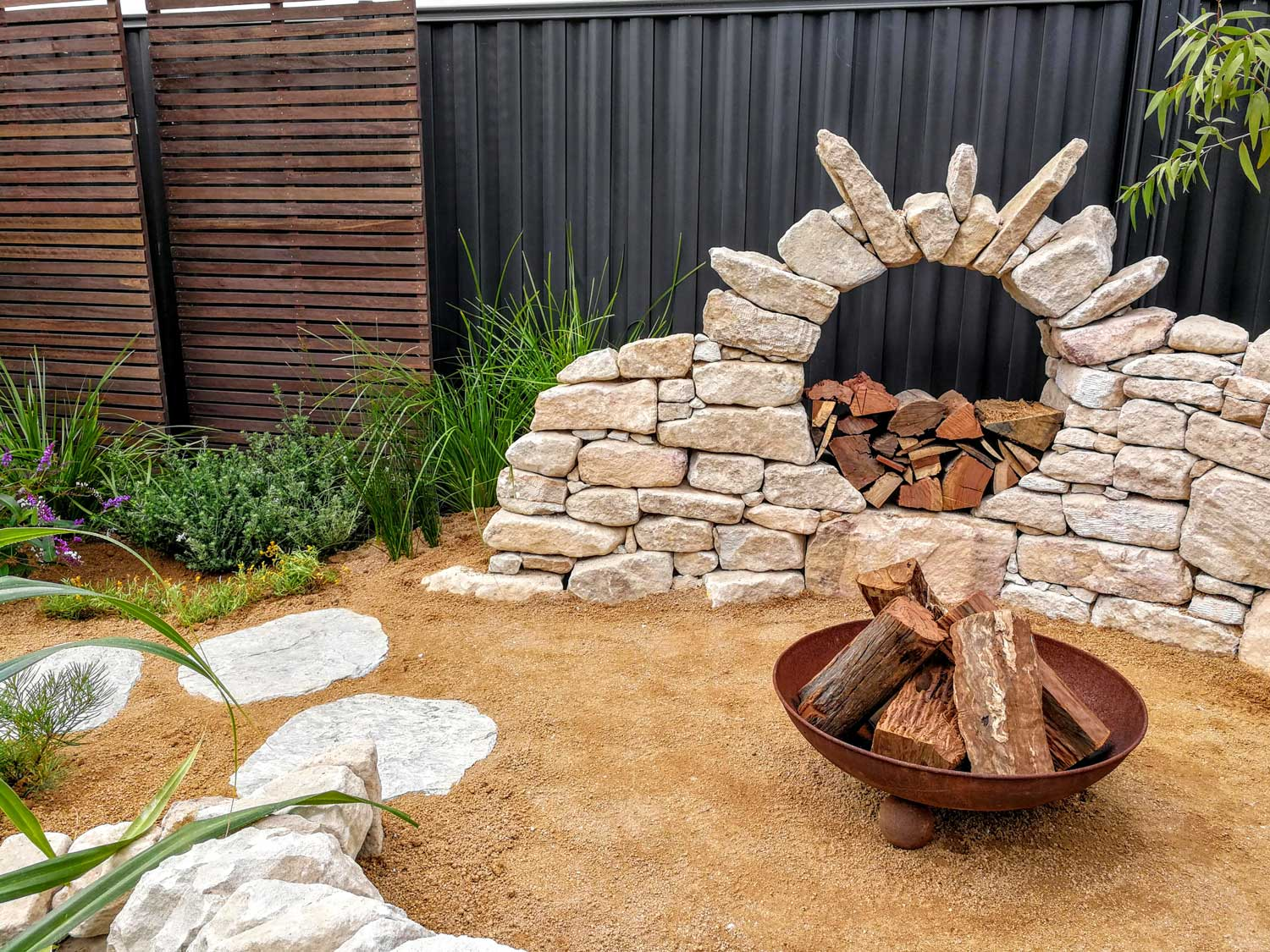 The magnificent moon gate constructed by the talented Liam Guthrie