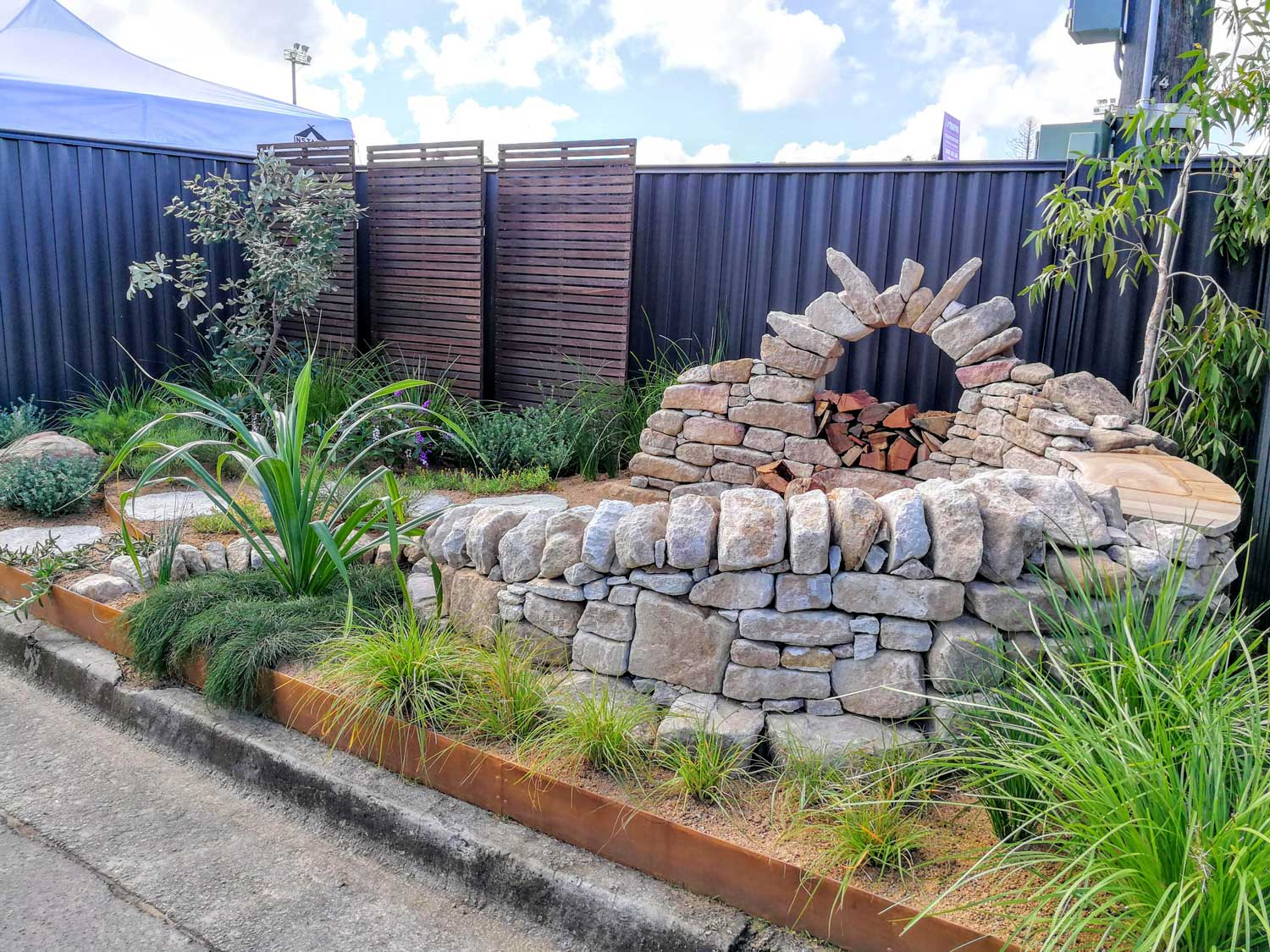 Another view of the display garden
