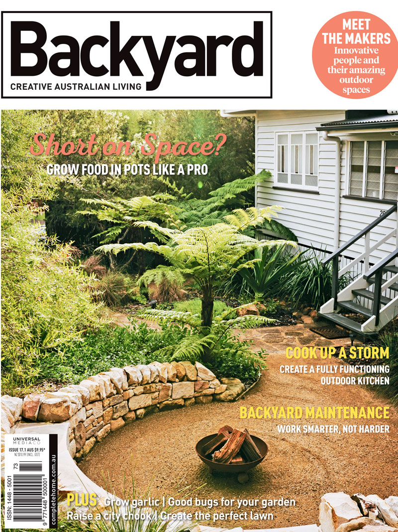 Backyard Magazine Cover Regenerative Designs Australia Landscaping Garden Landscape Design Sunshine Coast.jpg