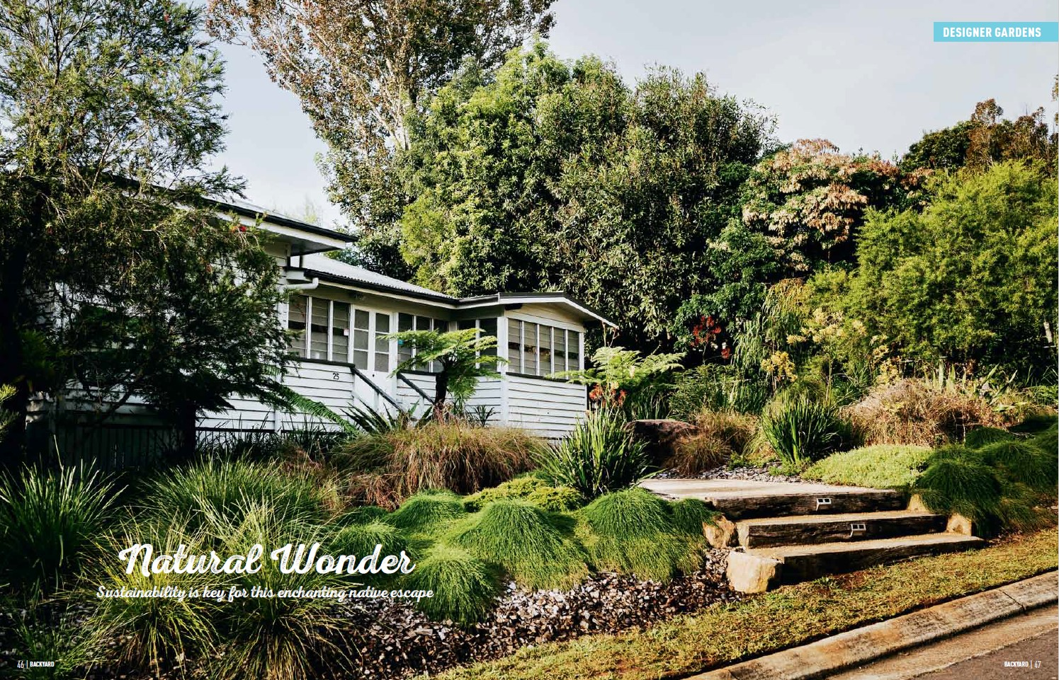 Backyard Magazine Feature Designer Gardens by Regenerative Designs Australia Landscaping Garden Landscape Design Sunshine Coast Pg1.jpg