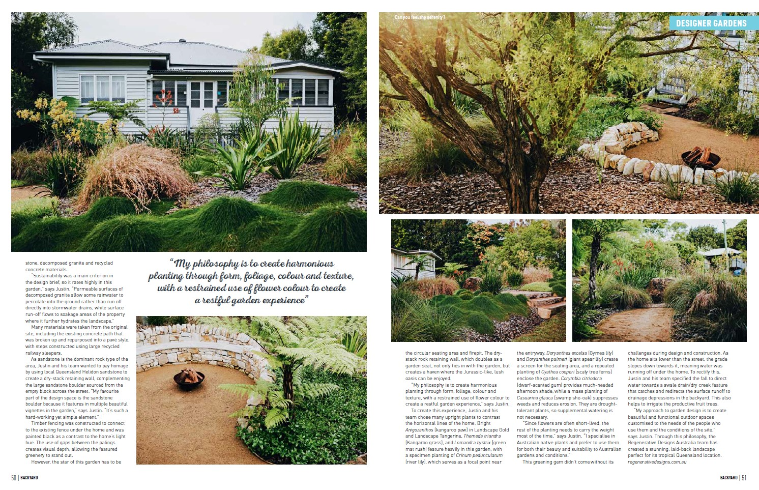 Backyard Magazine Feature Designer Gardens by Regenerative Designs Australia Landscaping Garden Landscape Design Sunshine Coast Pg3.jpg