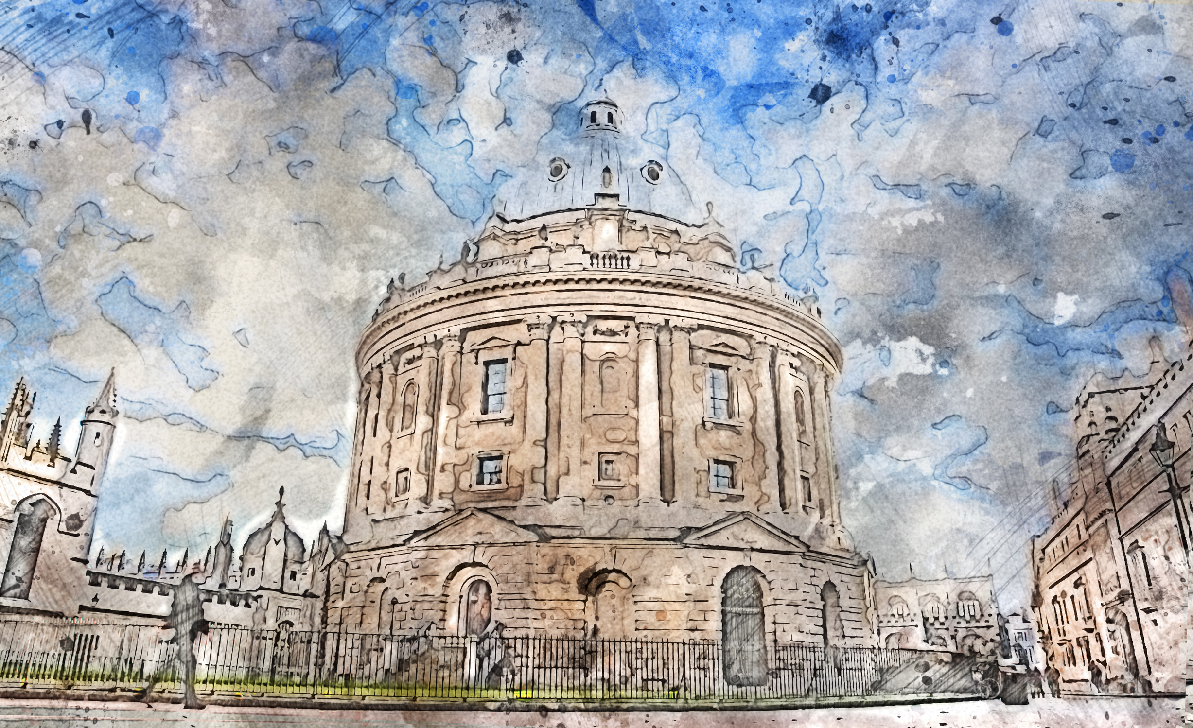 I don't think I will ever get tired of making prints of this building. Its still one of my favourites in Oxford! Keep an eye out for prints available in our gallery.