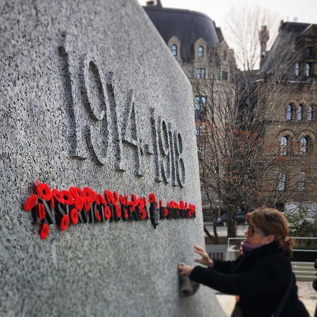 #armistice #remembranceday #remembrance #poppy #ottawa #canada