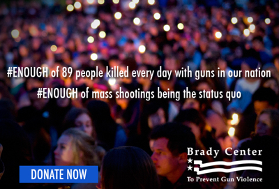 Go to  http://www.bradycampaign.org/  or click the image to help end the epidemic. Or just to lend your voice. #Enough.