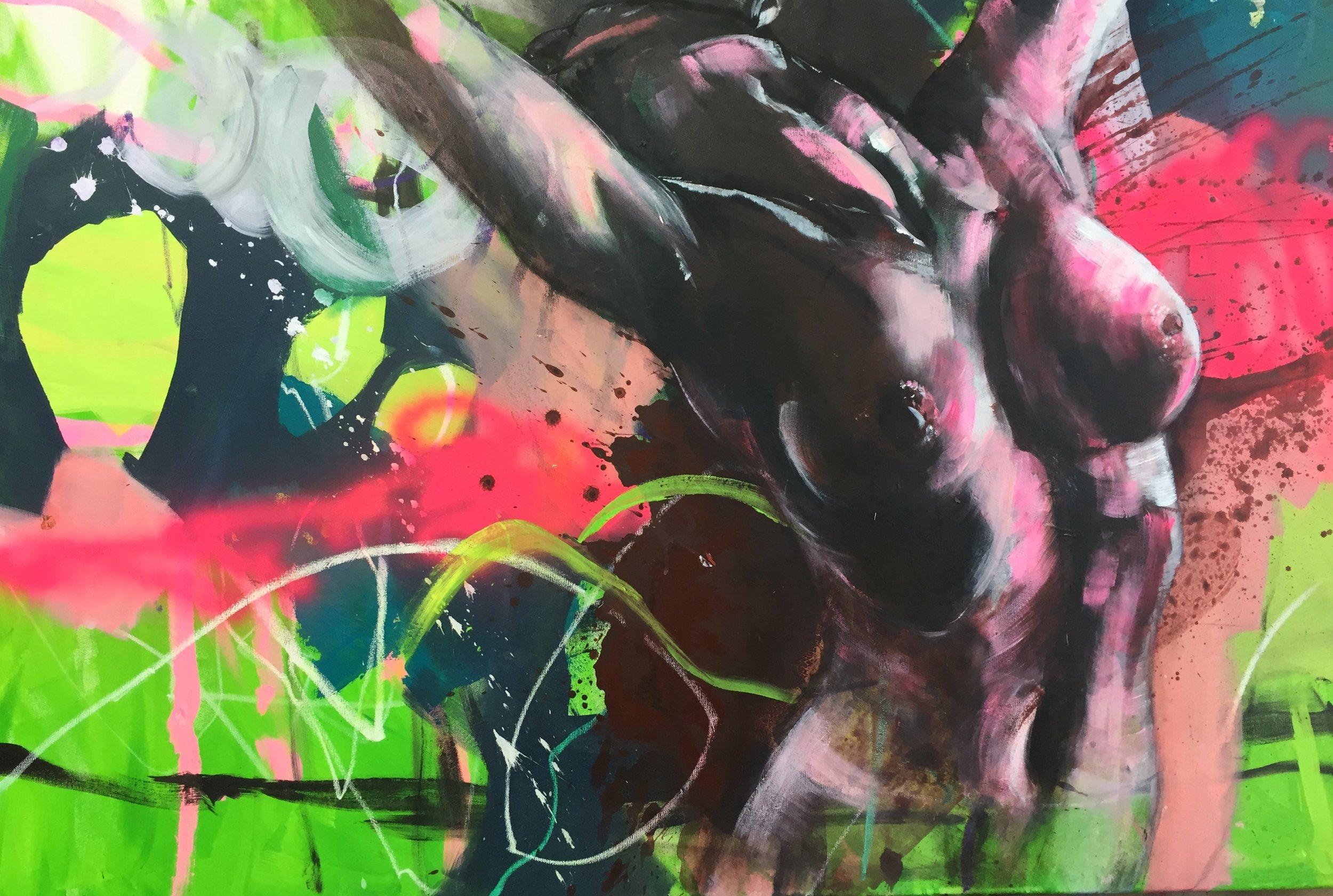 120x80, Acryl auf Leinwand