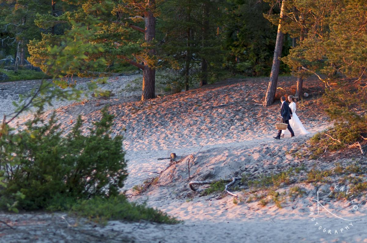 Pörkenäs Lägergård Solnedgång bröllop