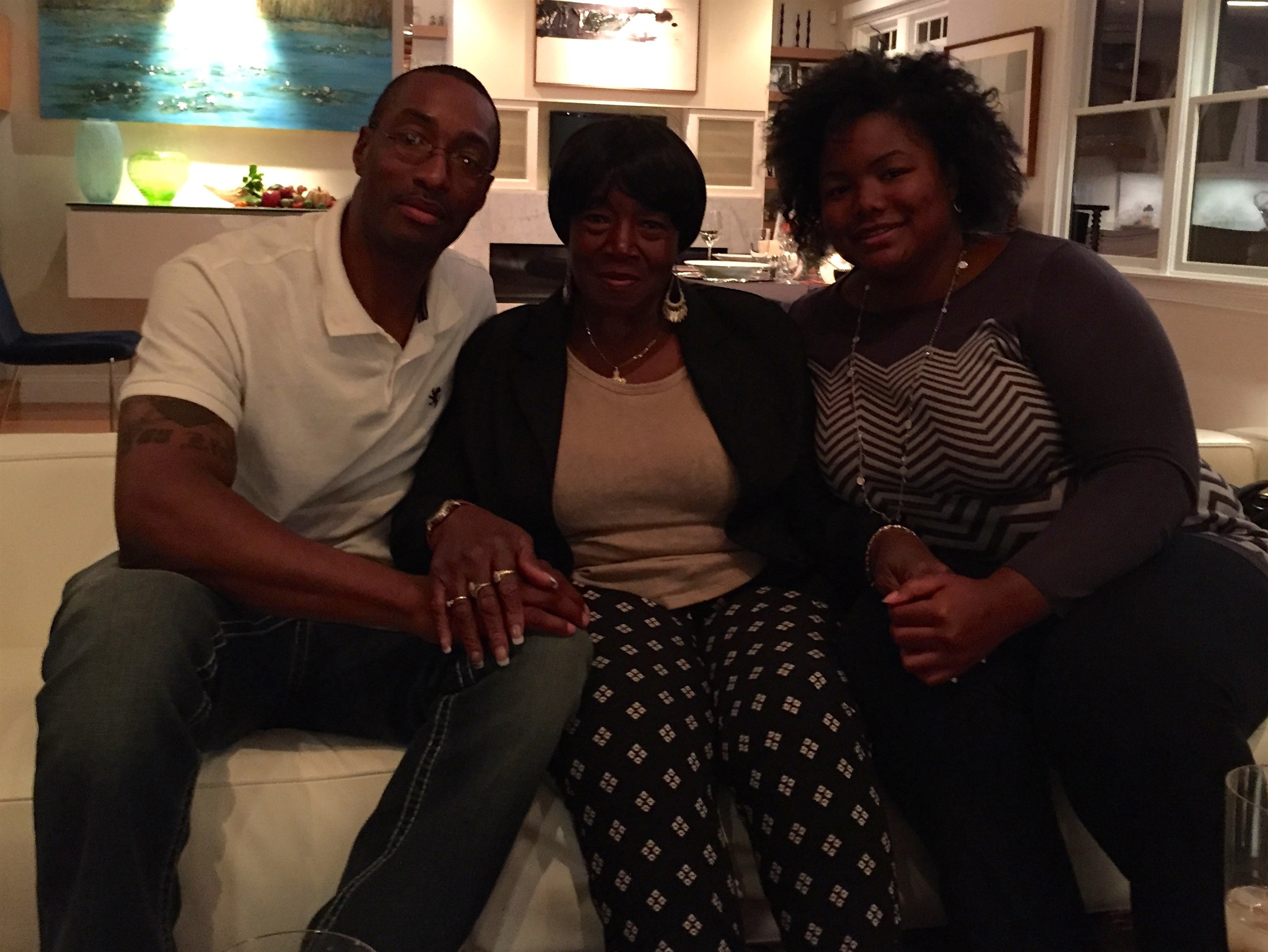 "Sean Ellis with his mother, Mary ""Jackie"" Ellis, and his sister, Shar'Day Taylor"