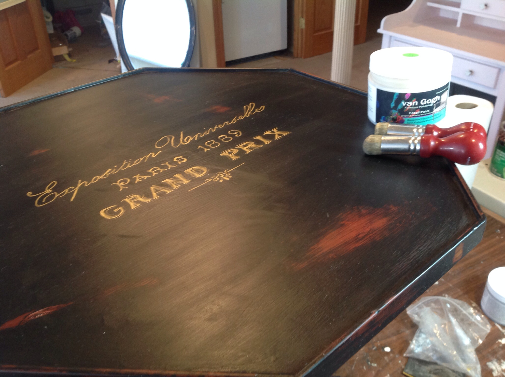 adding wax to the whole surface protects the beautiful finish