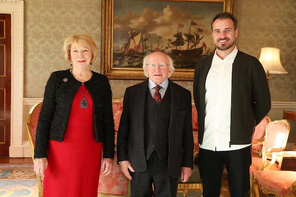 L-R: Sabina Higgins, Patron of Philosophy Ireland, President of Ireland, Michael D. Higgins, Dr. Robert Grant.