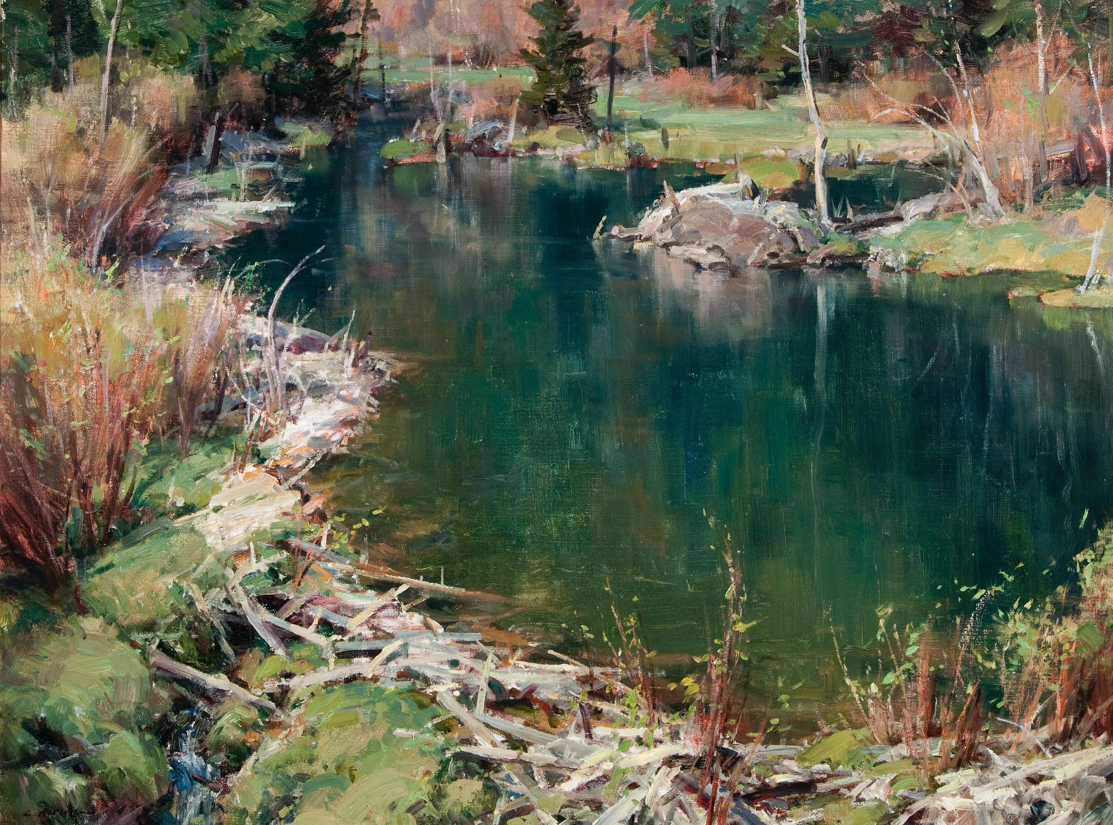 Beaver Pond by Clyde Aspevig