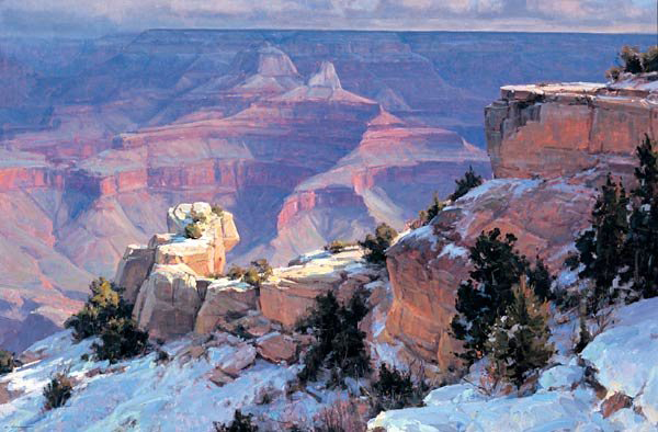 The Grand Canyon from Mather Point by Clyde Aspevig