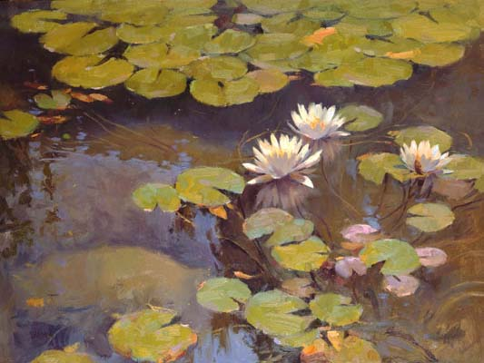 Water Lilies by Clyde Aspevig