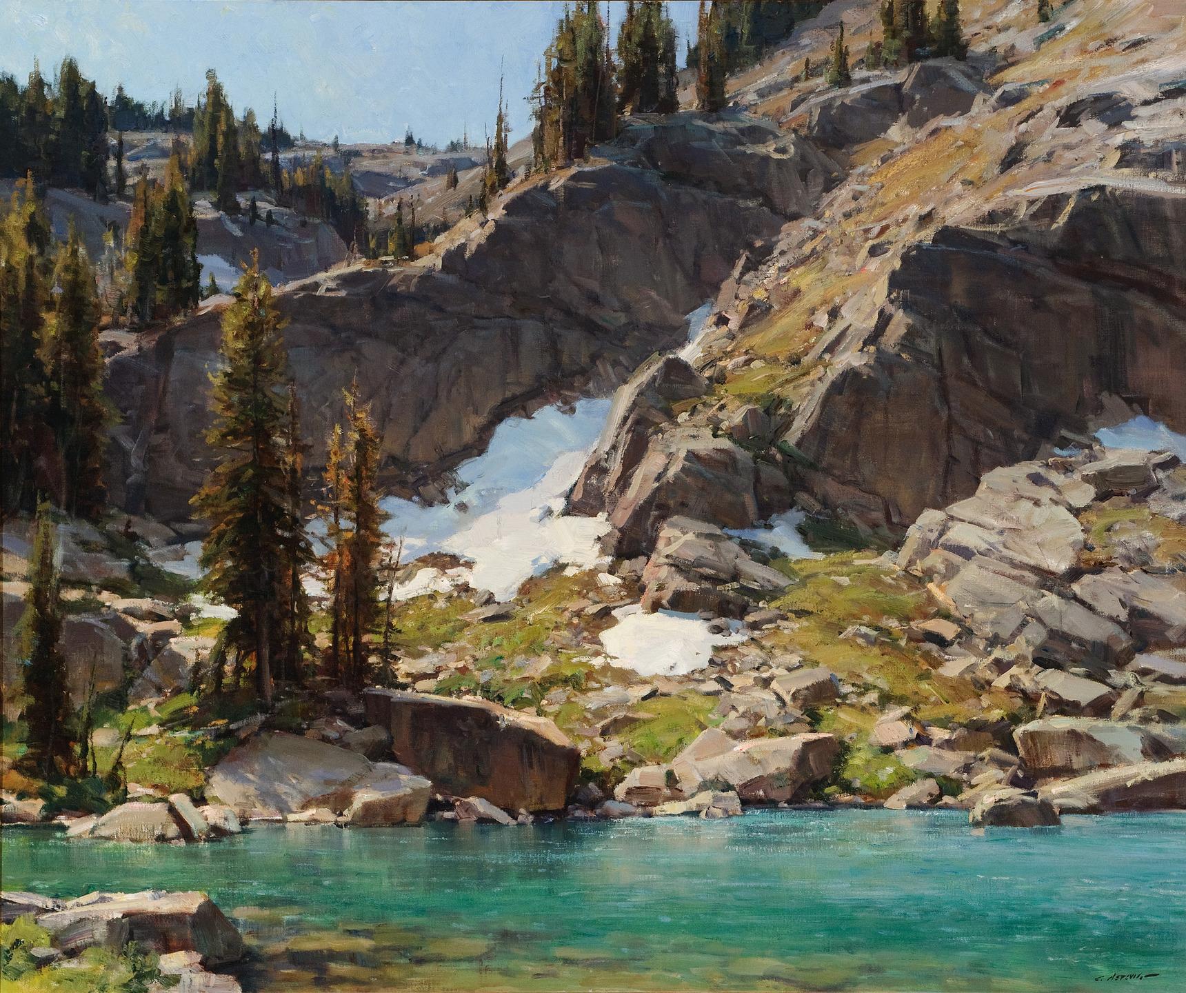 Alpine Lake by Clyde Aspevig
