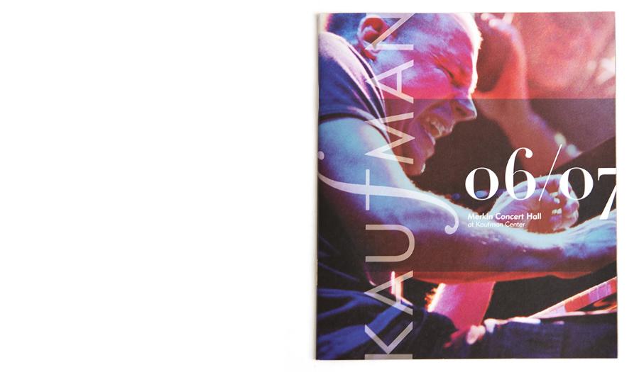 Kaufman Music Center / Program Booklet Cover