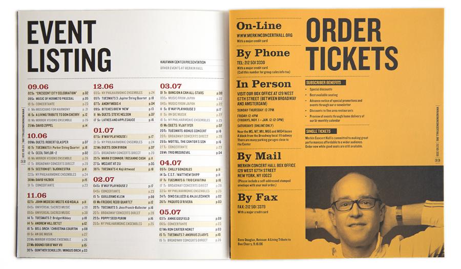 Kaufman Music Center / Program Booklet