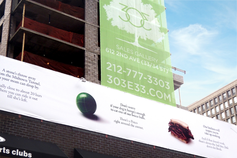 Toll Brothers / 303 East 33rd / Construction Site Banner