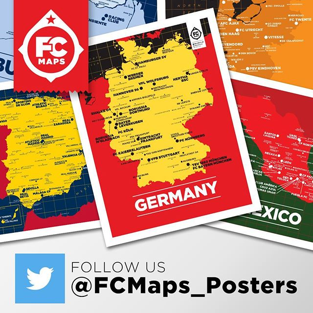 Have you followed us on twitter yet? You'll get the latest news on whats coming next. #soccer #football #mapstagram http://www.twitter.com/FCMaps_Posters