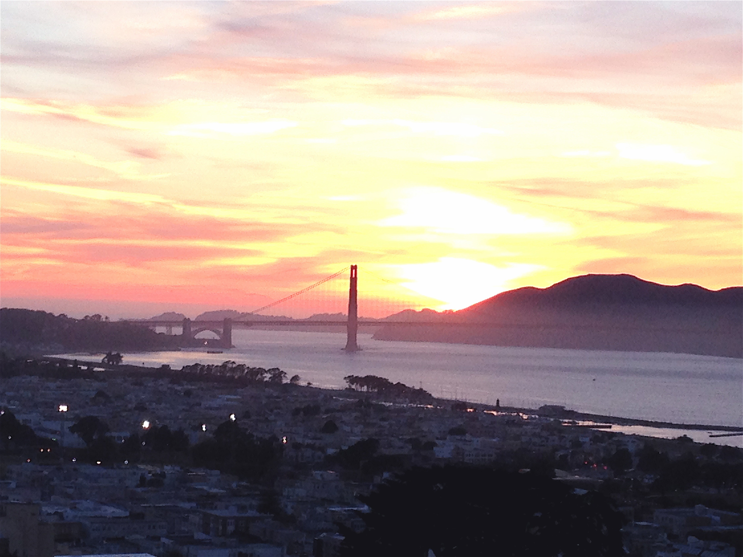 Sunset on San Francisco Bay. Photo: DelRae