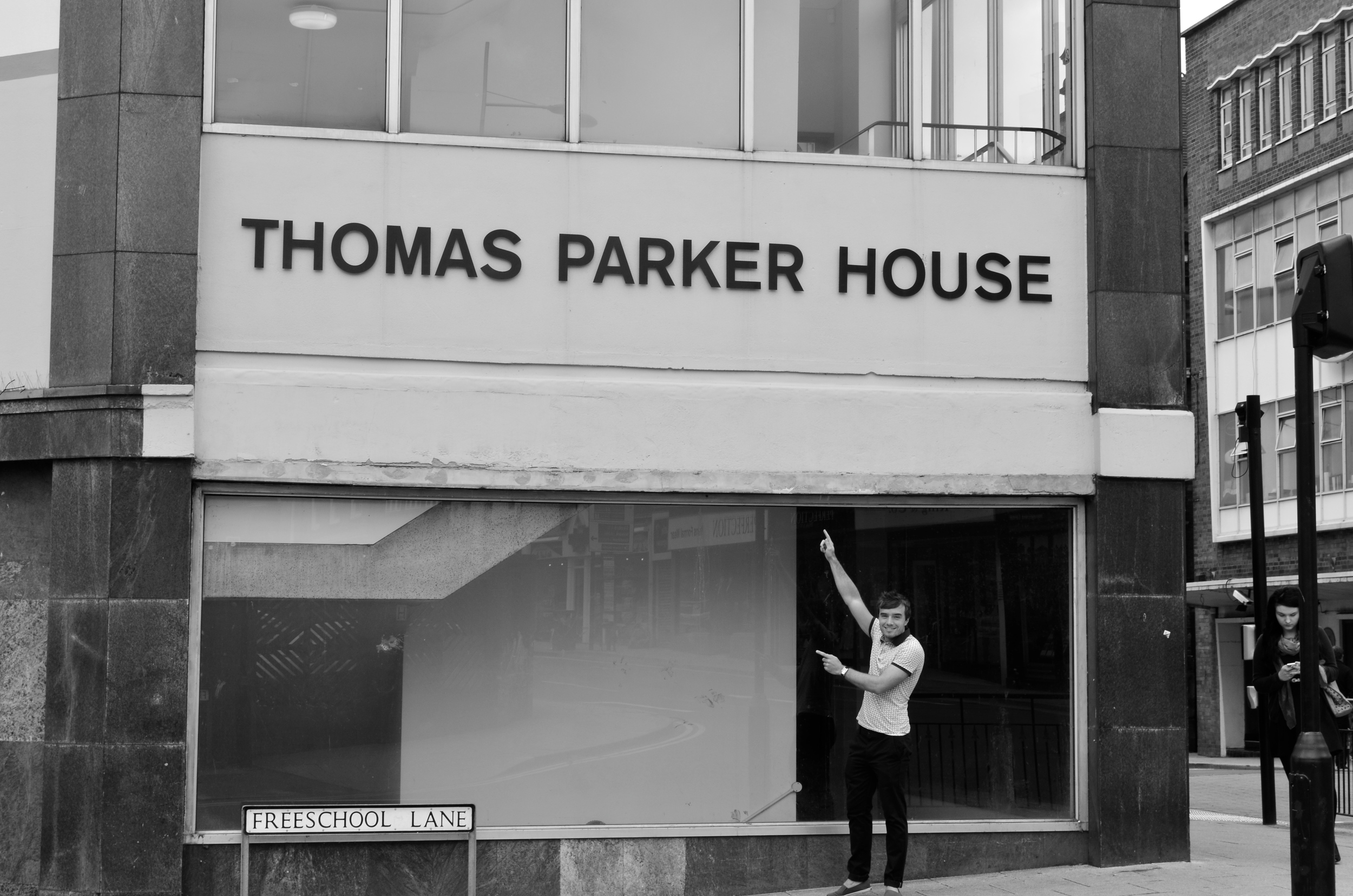 Outside Thomas Parker House for the final time