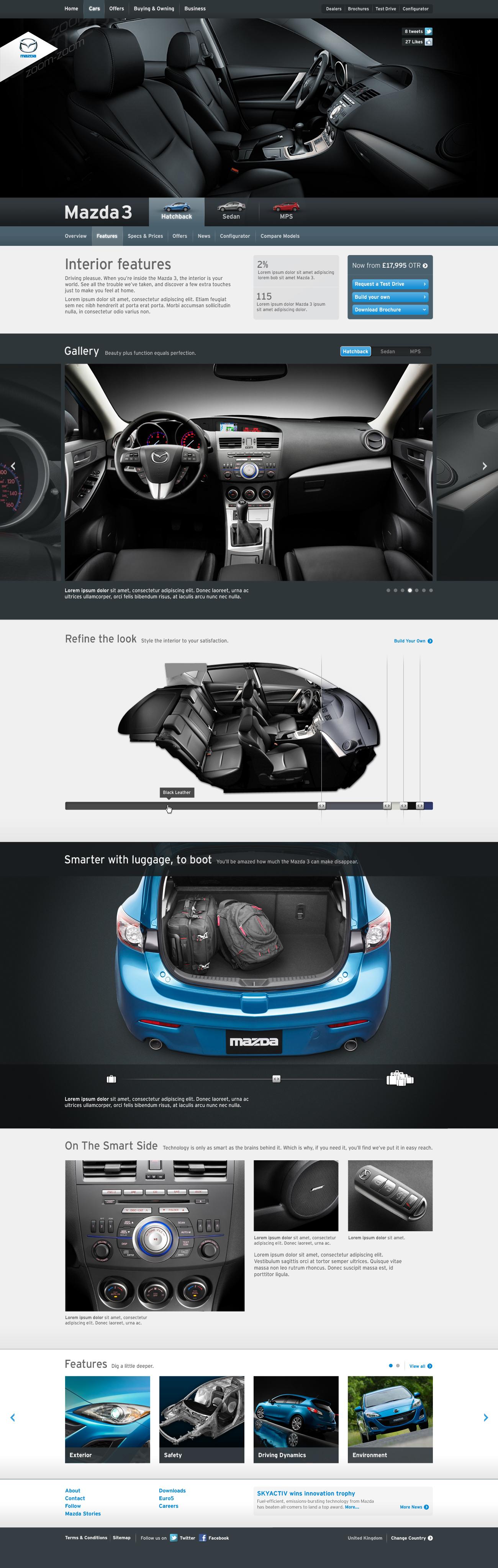Mazda 3 Interior Features