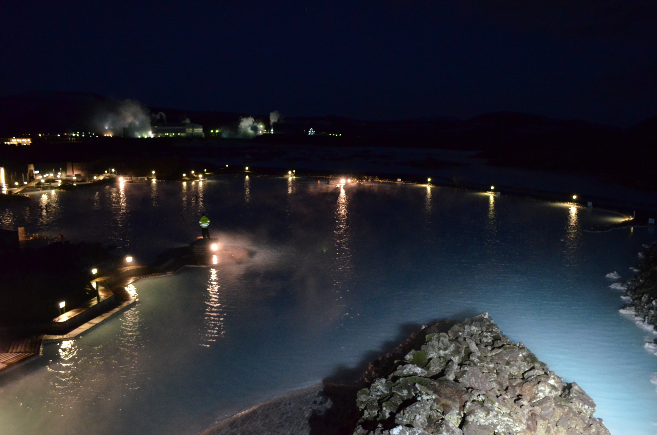 The Blue Lagoon at night