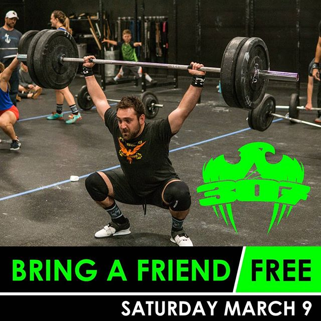 Do you have a friend or family member interested in checking of CrossFit? Bring them in for a FREE day this Saturday.
