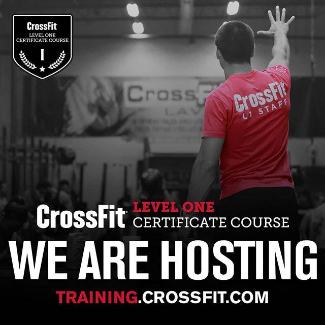CrossFit Level 1 Seminar being held here June 29-30. Go to training.crossfit.com to sign up.  @crossfit @crossfittraining #crossfit #crossfittraining