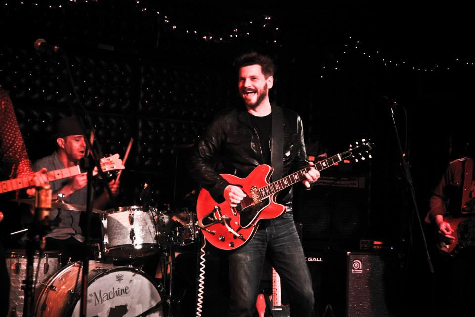 Sound checking for the Truckee Brothers reunion at the Casbah, San Diego, CA (2014). Photo  Andy King