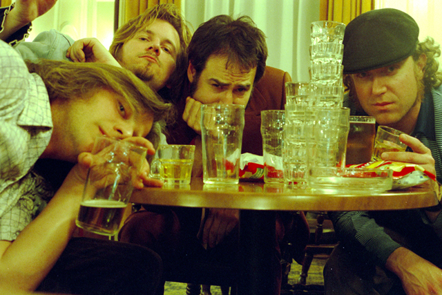 Breakfast at the Columbia Hotel, London (2005). We drank every single glass on that table and more from what I remember. This was the morning after the night we first met Mike Watt of the Minutemen and we were still up. Whiskey does fascinating things to me. It's better that you serve me a good tequila to sip on instead. Photo Greg Friedman