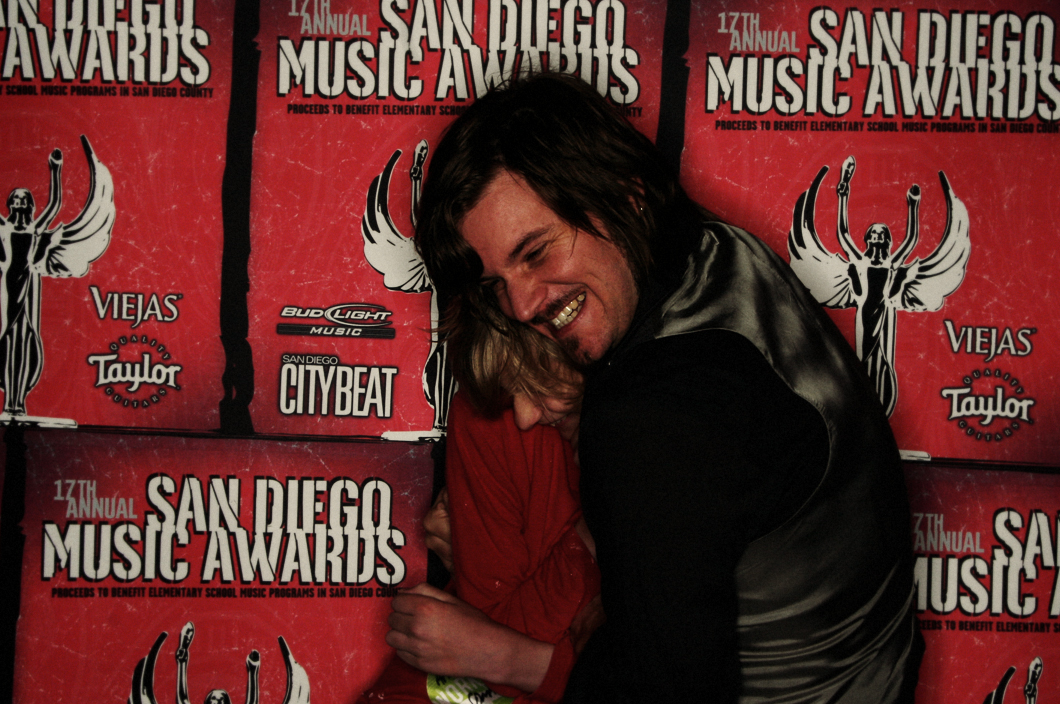 Caught accosting my son and fellow Wirepony member, Aaron Dennis of Tan Sister Radio a  fter the Truckee Brothers performance at the SD Music Awards (2007). Photo  Jeff Wiant