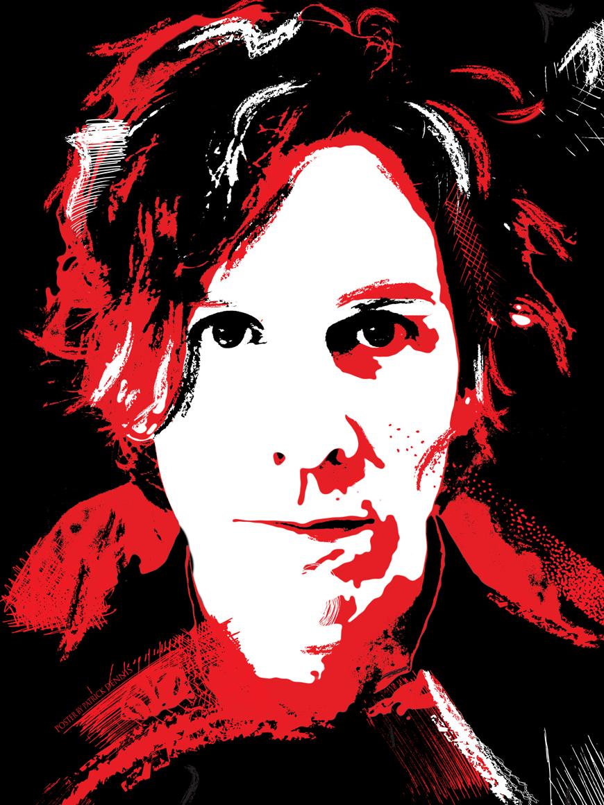 Rock N Roll Man Illustrated Poster (2011) Project Elizabeth Cook 'Rock N Roll Man' Video Model Tim Carroll