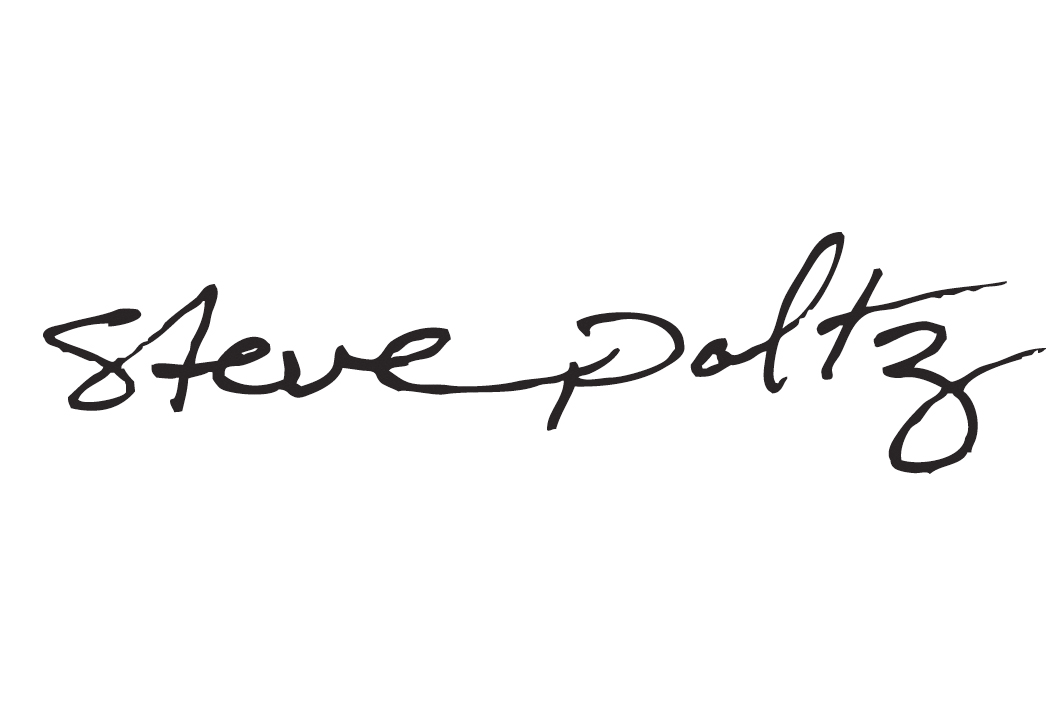 Steve Poltz. Hand drawn logo to accompany his 'Traveling' and 'Unraveling' releases (2009).