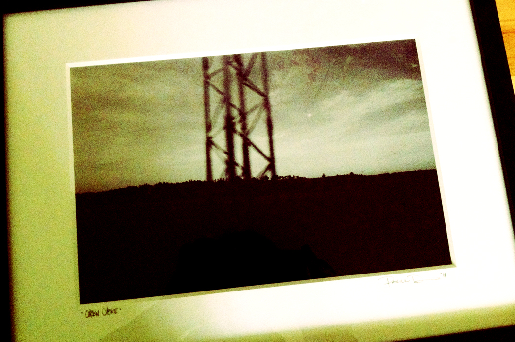 Oren's Tower (2010). Framed print from my limited edition series 'Travel Eye'. A four-set series of 4 images each taken while on tour and traveling. These were sold in a very limited quantity. This particular print was a gift for my friend Oren Oubre in Austin TX to help raise money for his cancer treatment.