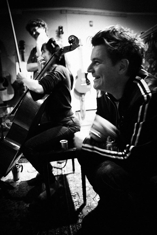 Hearing the string section go down on 'Life or Luck' during the 'Fürst In The Dirt' sessions. That's joy on the face (2014). Photo Stacie Huckeba.