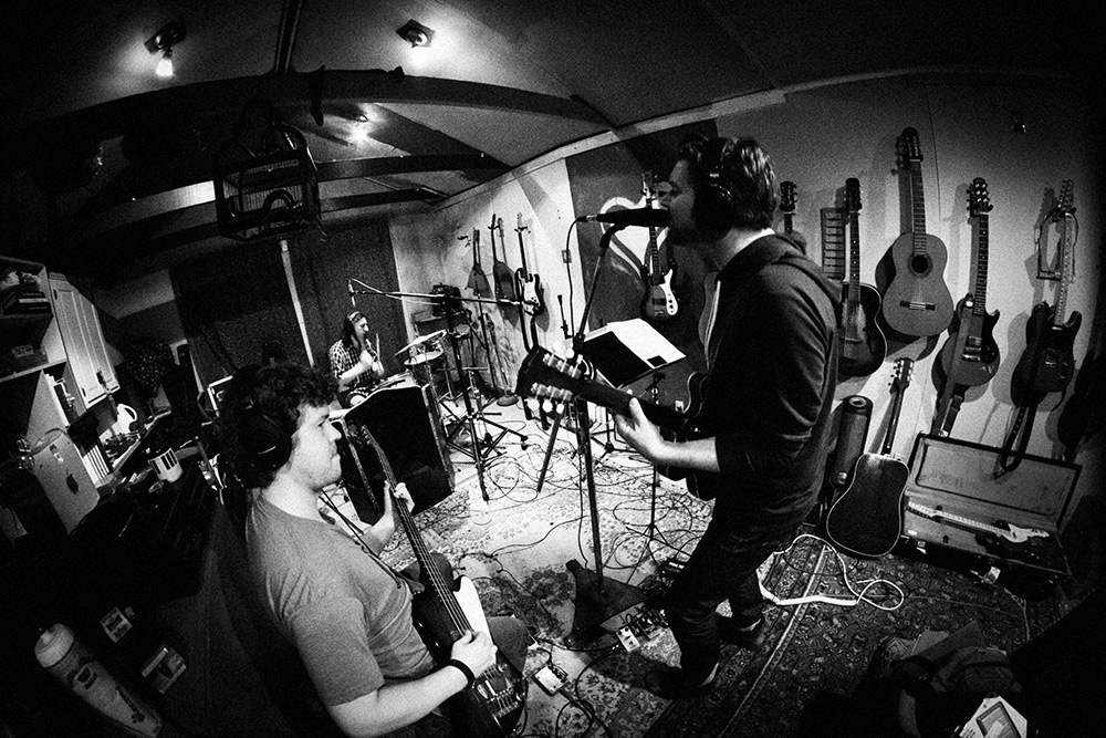 Cutting 'Falter' live.Playground Sound, Nashville TN (2014). Photo Stacie Huckeba.