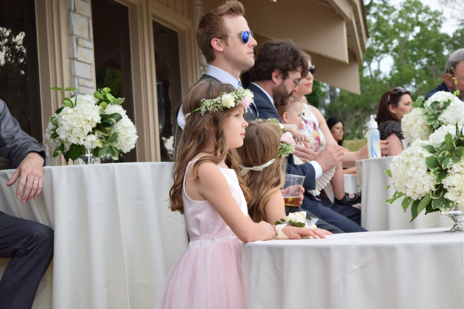 These cuties! I wish you could have seen the excitement on their faces. They loved wearing their floral crowns and were so enthusiastic about the entire wedding. It was so adorable.