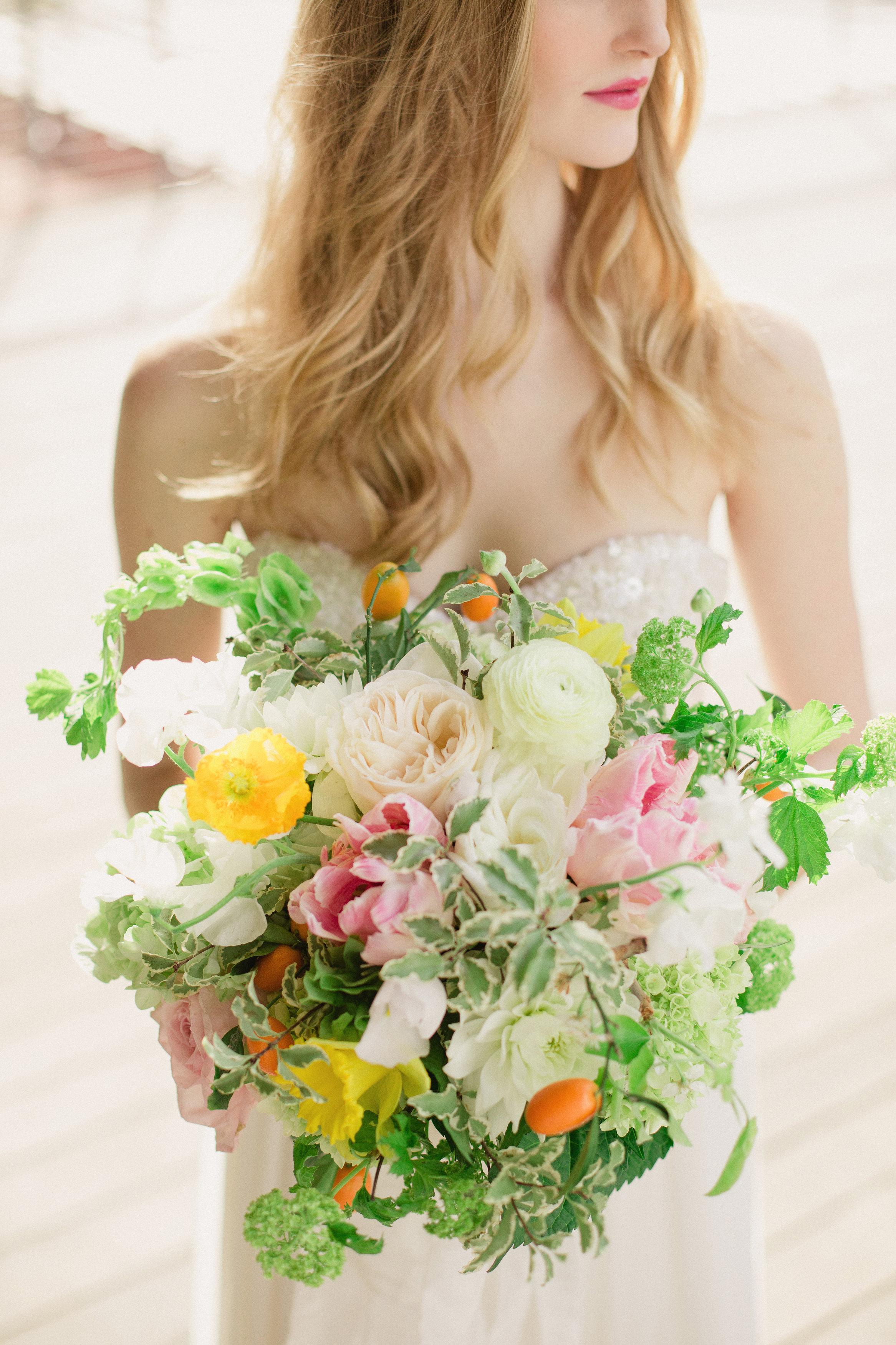 Citrus Summer Bridal Bouquet