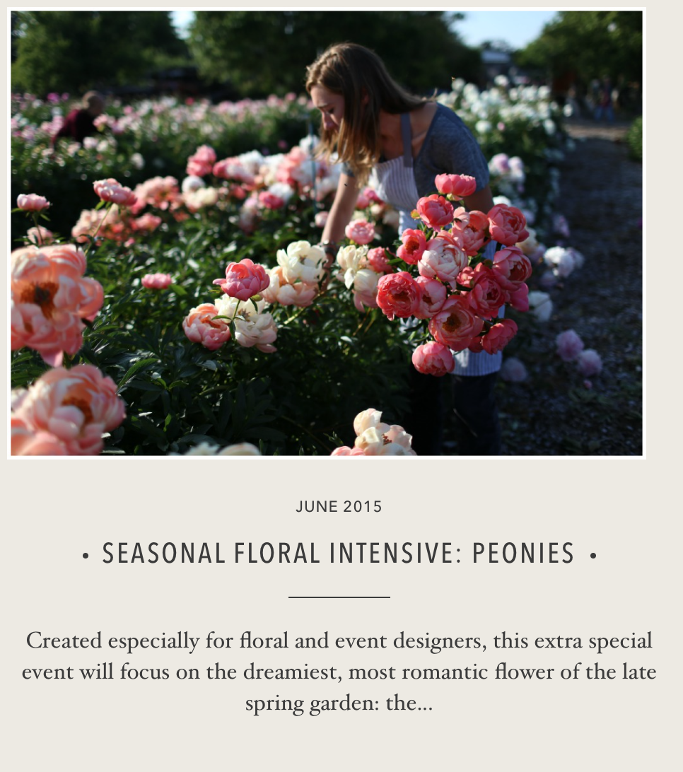 Floral Intensive Workshop- THIS! The ultimate floral designers gift!! DO IT! It's what we all dream about.  I promise.