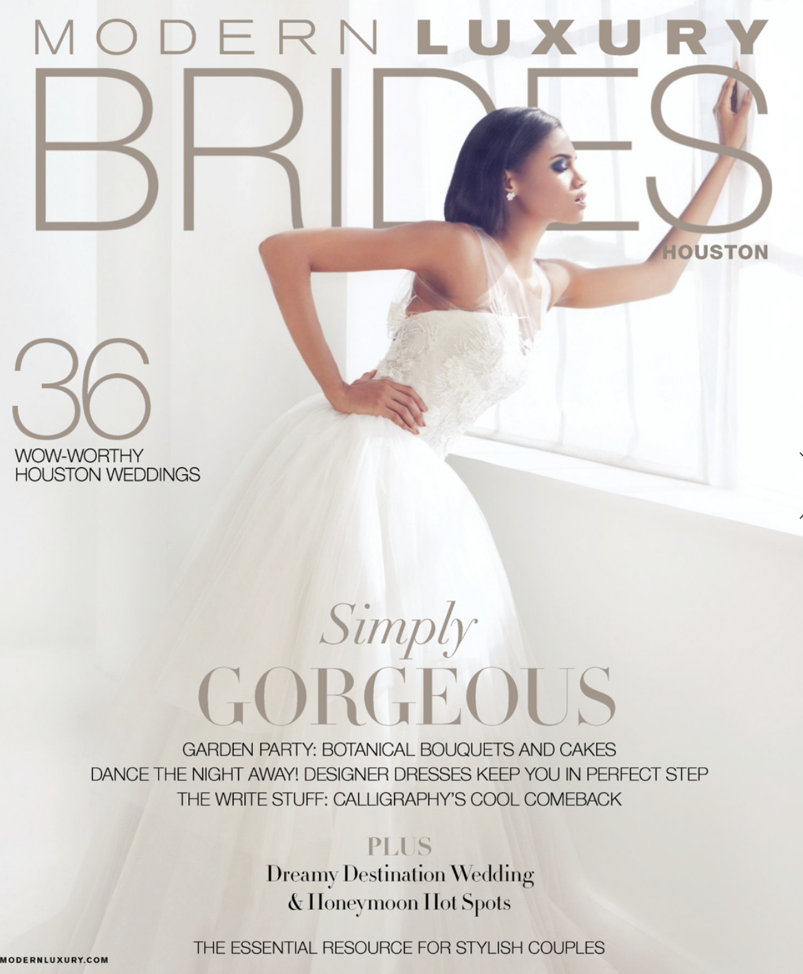 The cover of the December 2014 issue of Houston Brides Magazine
