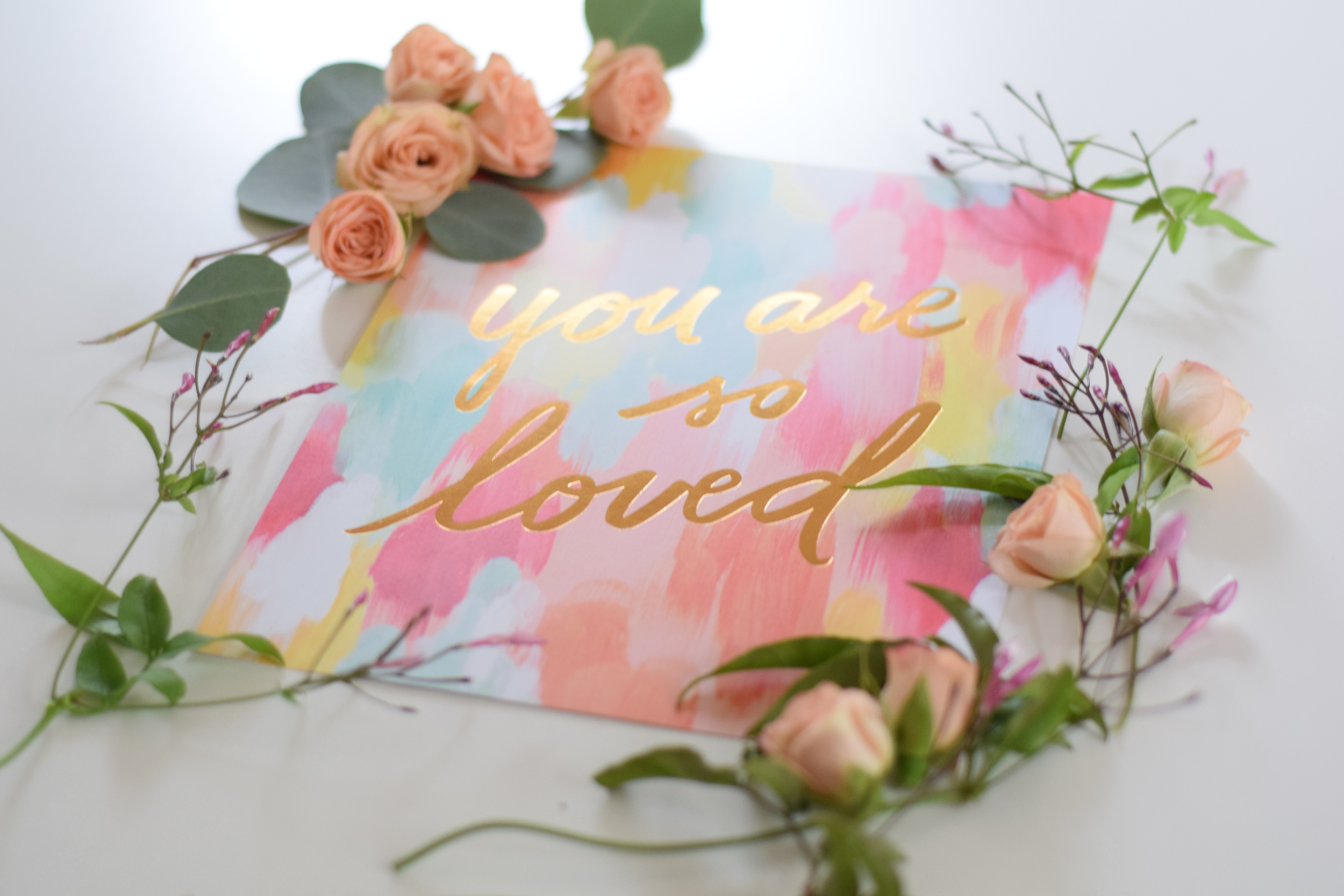 You are so Loved Print, Maxit Flower Design