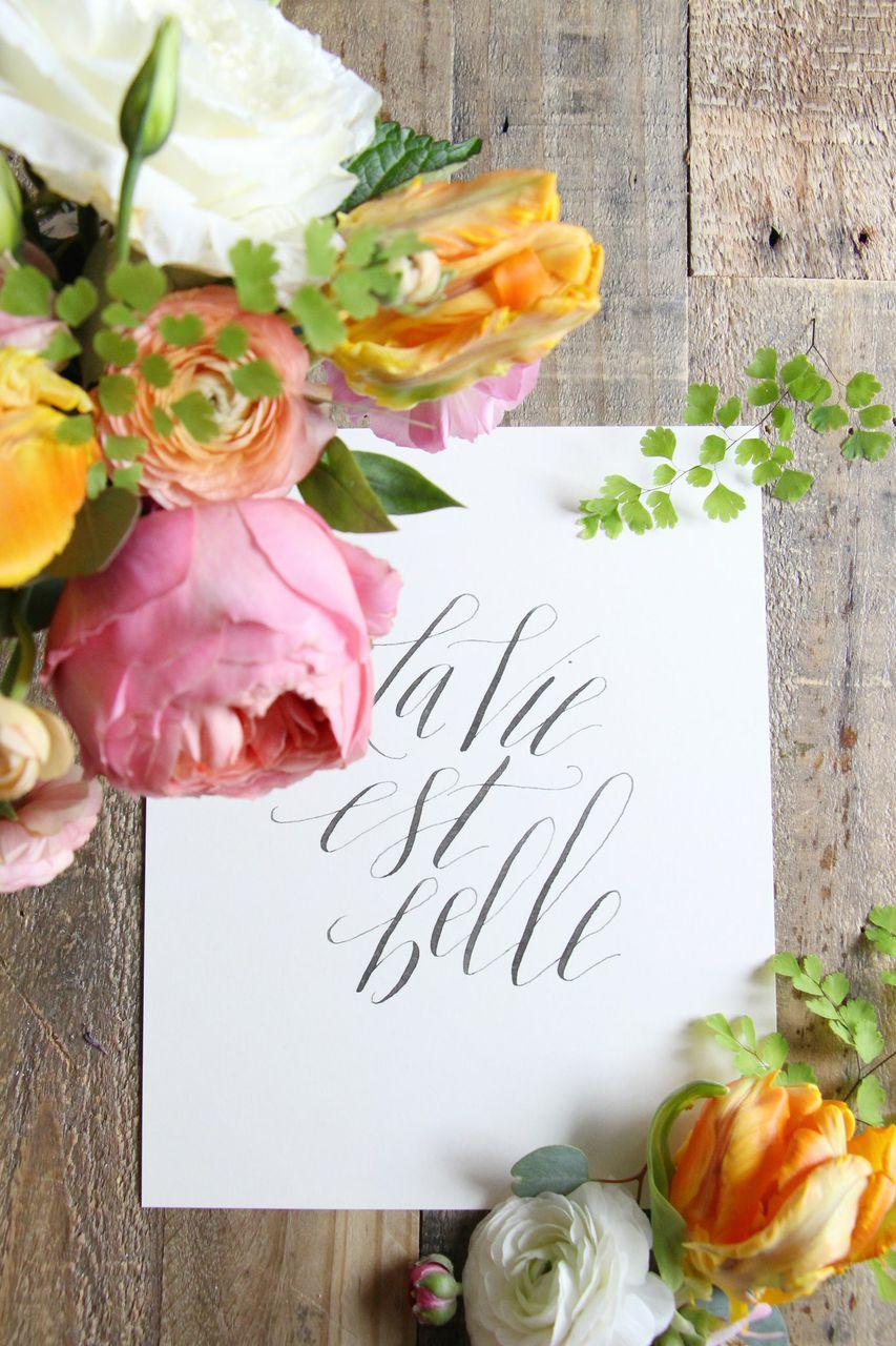 Houston Modern Calligraphy, Kristara, Houston Weddings, Events, Florist, Maxit Flower Design