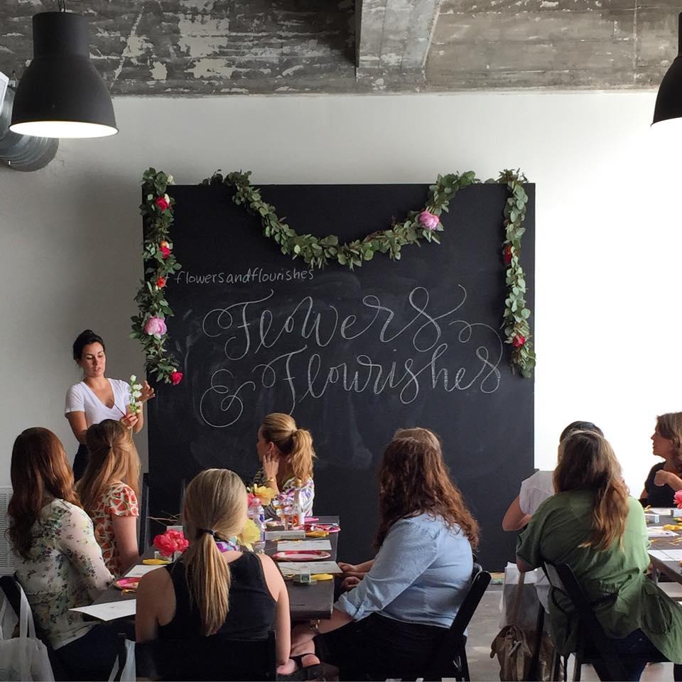 flower crown workshop, Houston, TX, Maxit Flower Design, Flowers and Flourishes