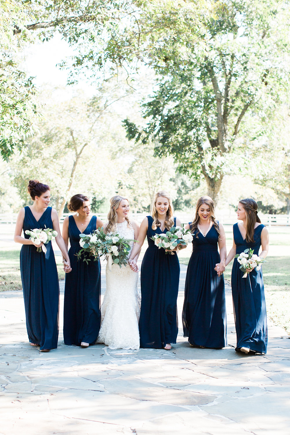 Girl squad and their bouquets.