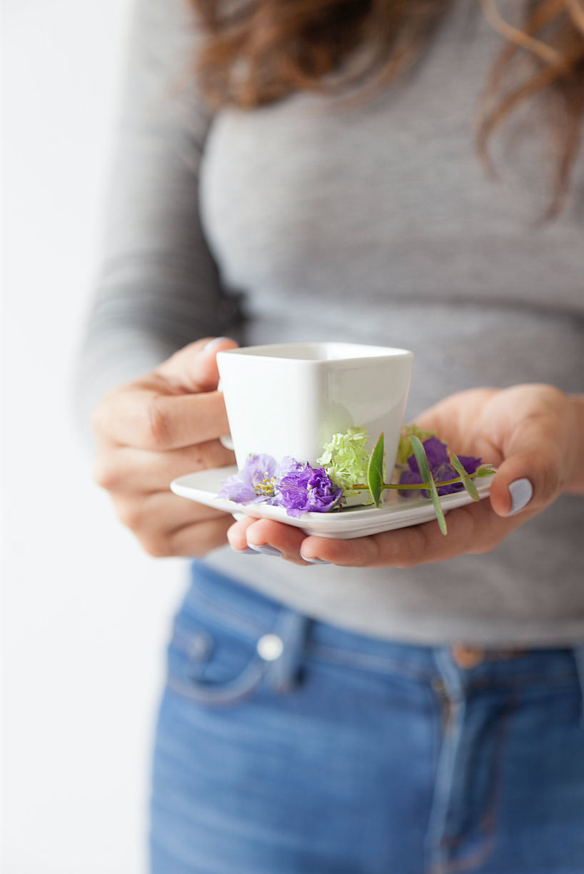 holding tea stock image maxit flower design
