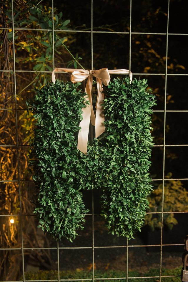 boxwood wedding letter maxit flower design