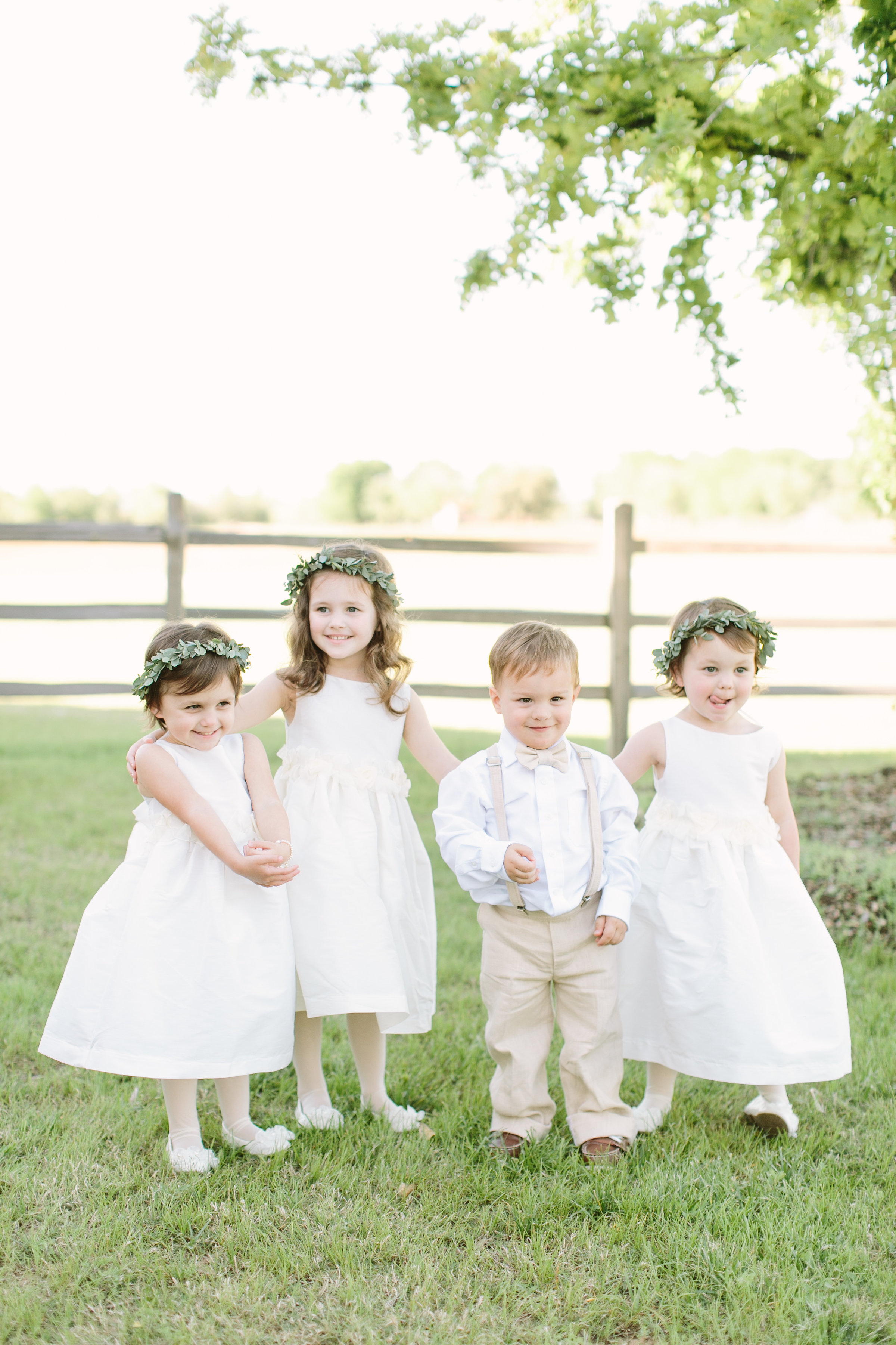 flower girls and ring bearer florals by maxit flower design in houston texas