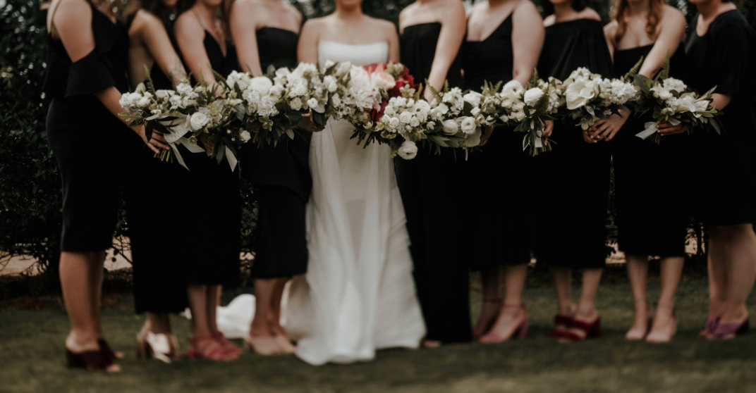 bridal-party-bouquet-centennial-gardens-modern-wedding-moody-photography-joseph-west-maxit-flower-design-in-houston-texas