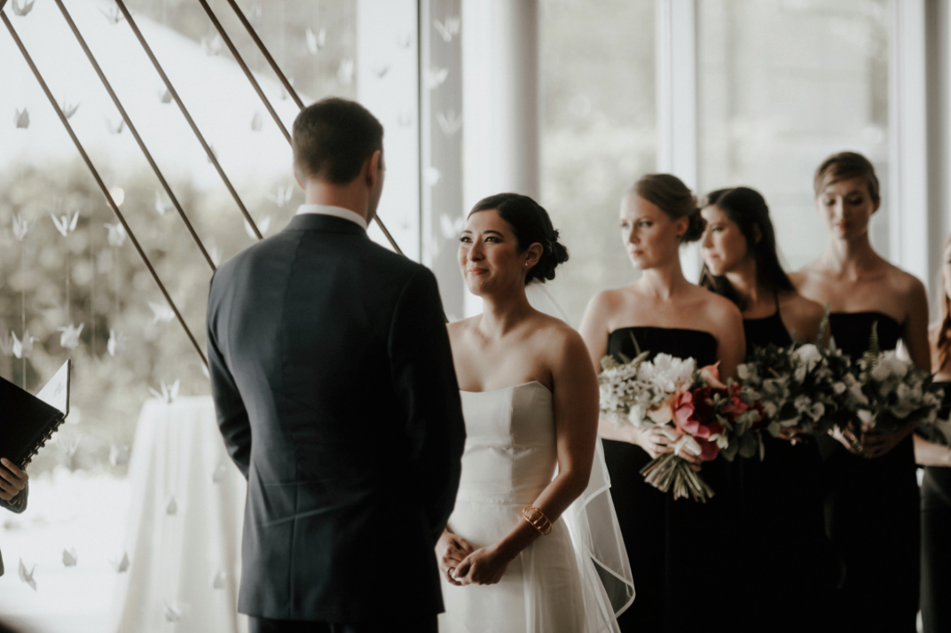 ceremony-vows-bouquet-centennial-gardens-modern-wedding-moody-photography-joseph-west-maxit-flower-design-in-houston-texas