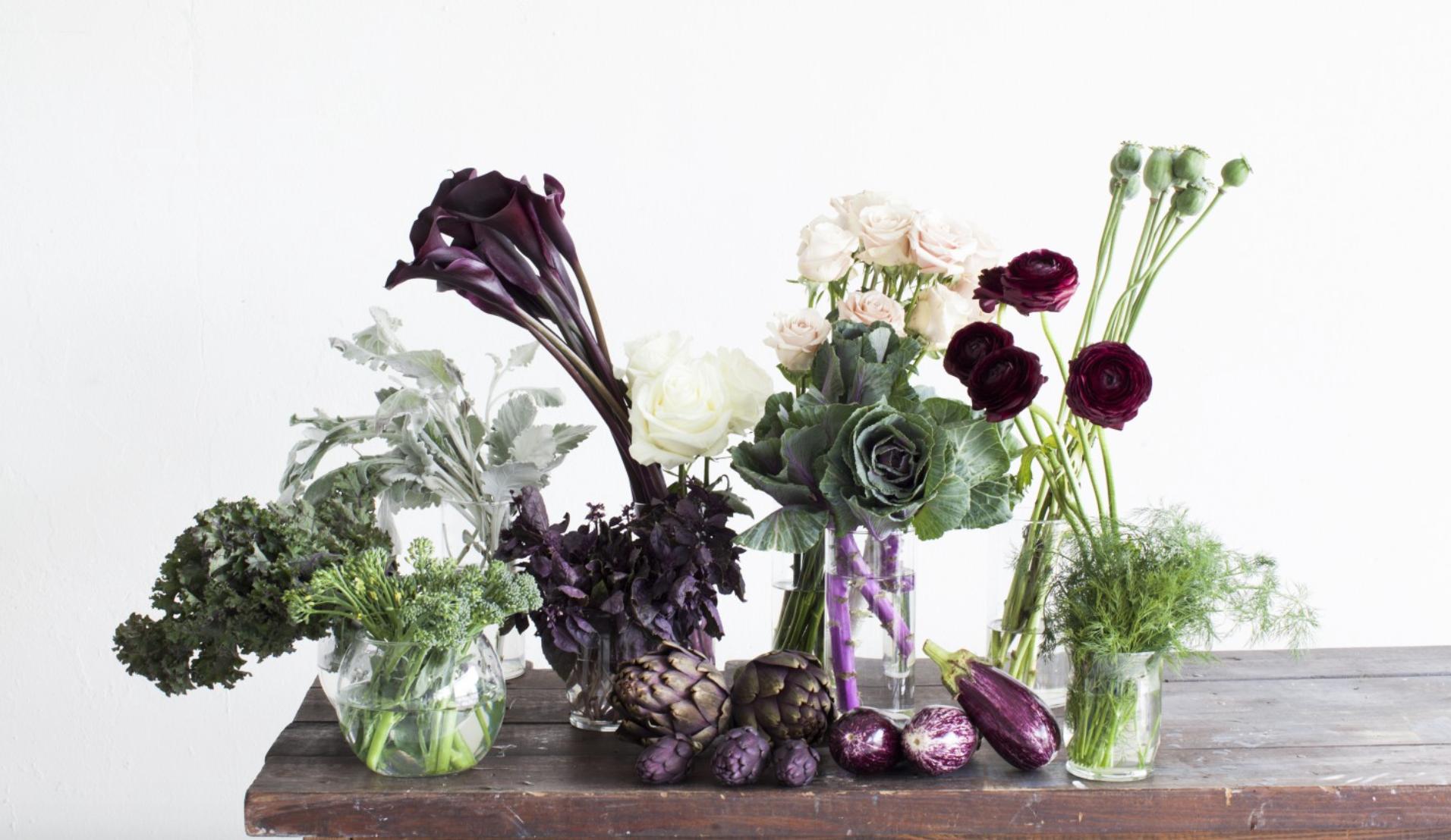 kale-arrangement-eggplant-purple-greenery-magazine-feature-maxit-flower-design-in-houston-texas