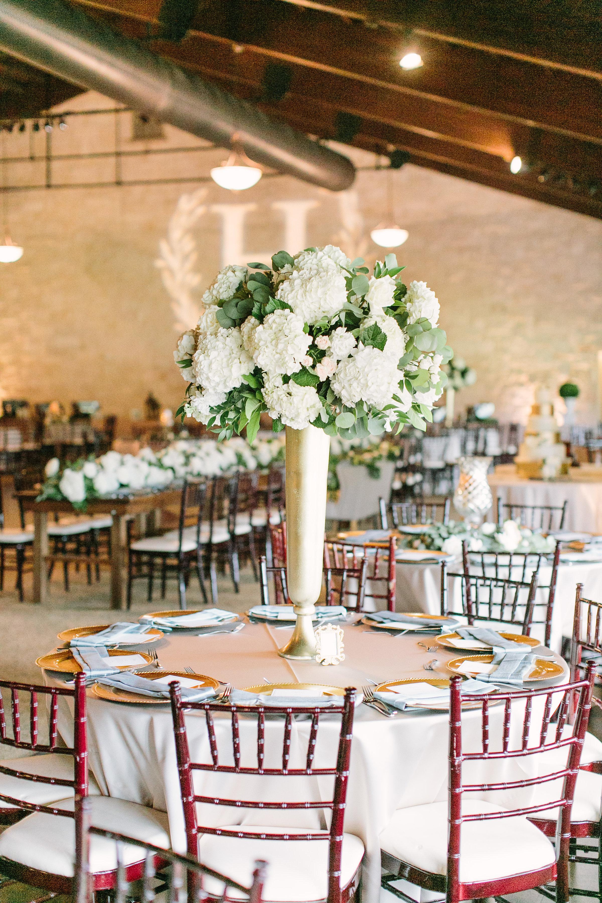 tall-arrangement-gold-vase-white-hydranga-greenery-by-maxit-flower-design-in-houston-texas